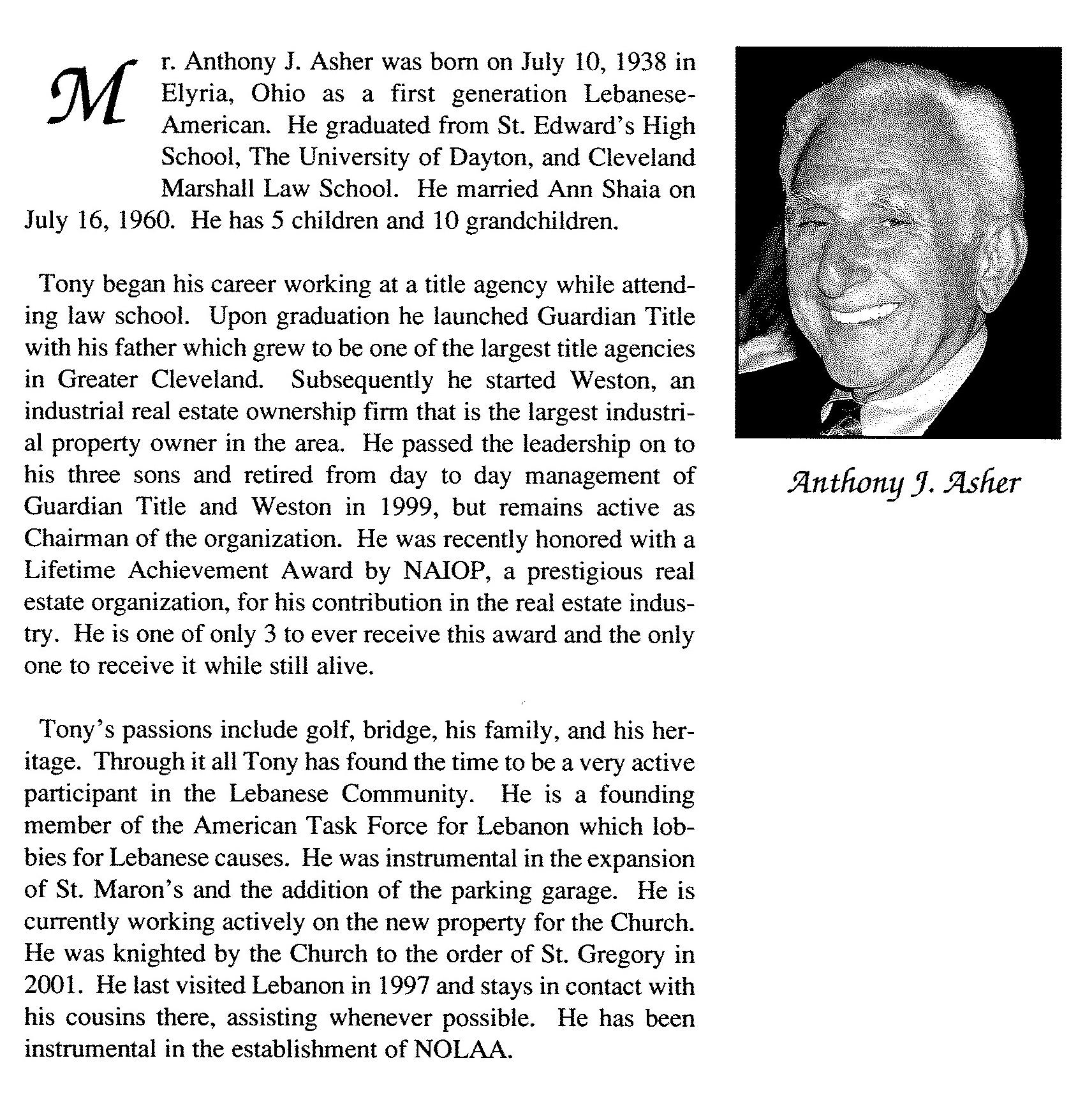 Anthony Asher- Bio
